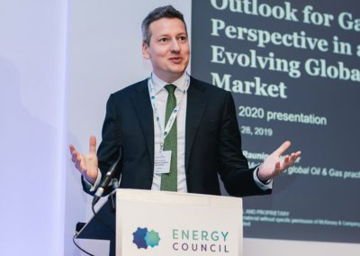 speaker at energy council event