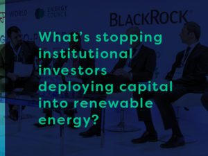 whats stopping institutional investors deploying capital